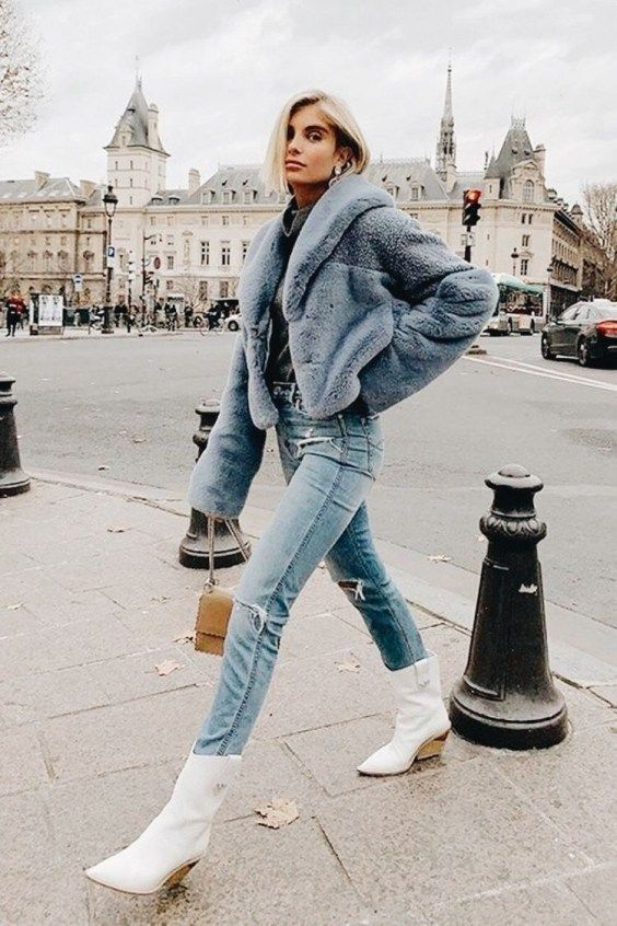 34 Popular Winter White Boots Outfits Ideas For Women To Copy .