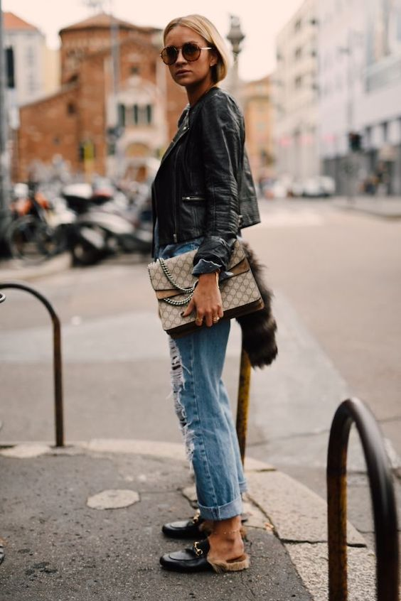Cropped Leather Jacket: 10 Chic Ways to Wear It - FMag.c