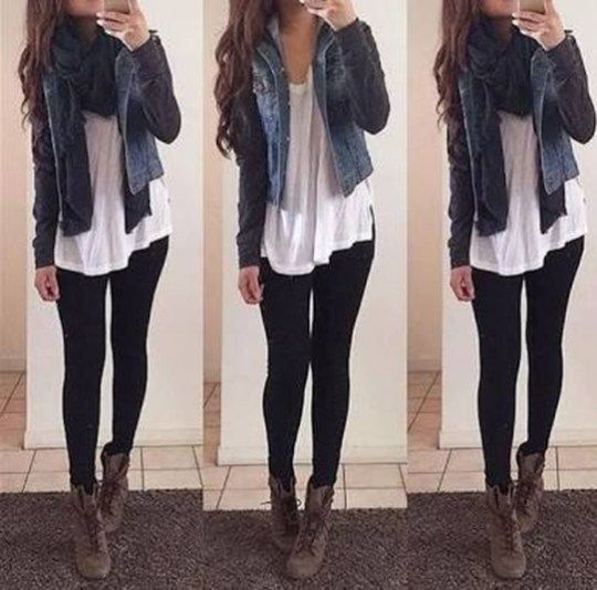 41 Cute Outfits Ideas with Leggings Suitable for Going Out on Fall .