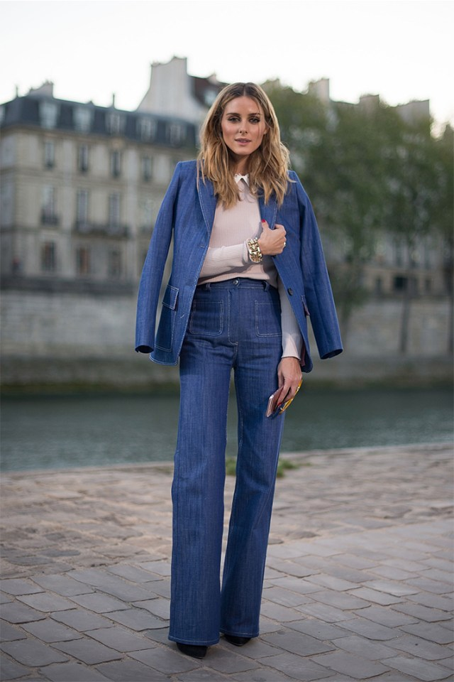 Jeans with a bell bottom