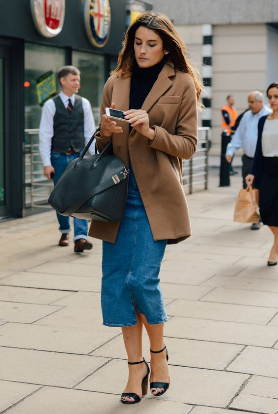 Style Denim Midi Skirt: Retro Look is Back Again - FMag.c