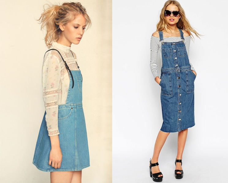 15 Refreshing Ways to Wear a Denim Overall Skirt - FMag.c