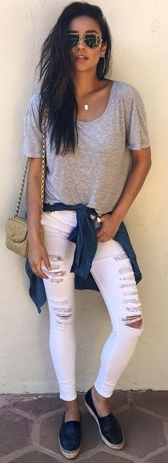 300+ Best White Jeans Outfits images   outfits, white jeans outfit .