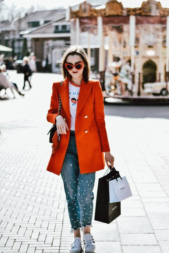 Double-breasted jacket Pearl Jeans