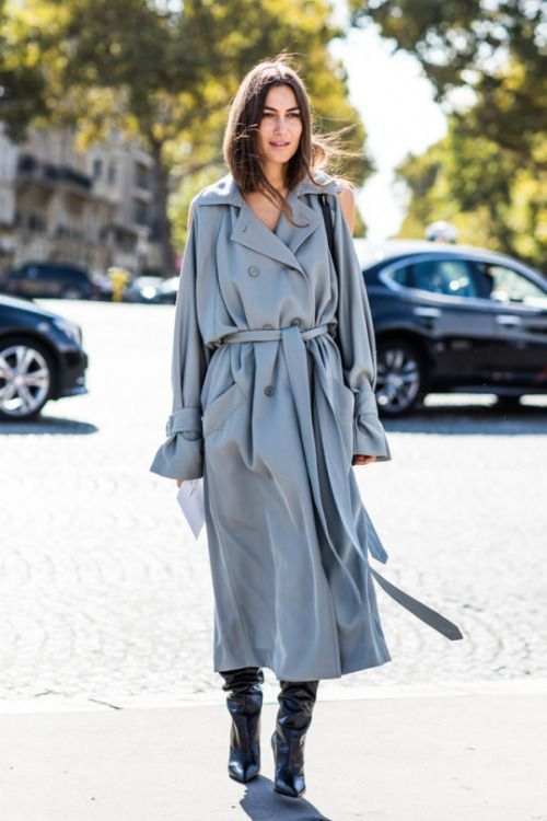 Double-breasted jacket, trench blue