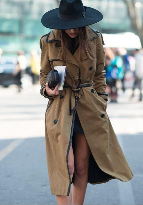 Double-breasted jacket trench dark brown