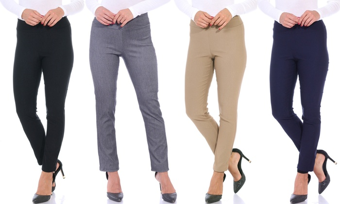 Up To 68% Off on Women's Stretchy Dress Pants | Groupon Goo