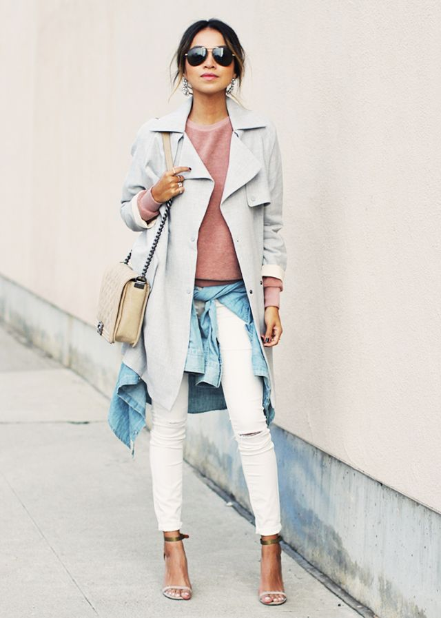 Feather duster jacket blush pink