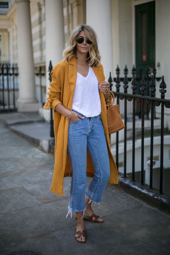 Yellow feather duster jacket