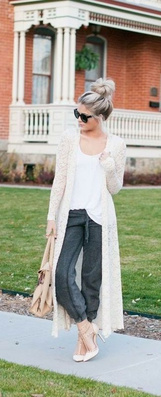 40 Stylish Chic Long Cardigan Outfits For Ladies | Long cardigan .