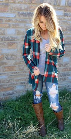 100+ Best Plaid Shirt Outfits images | outfits, cute outfits .