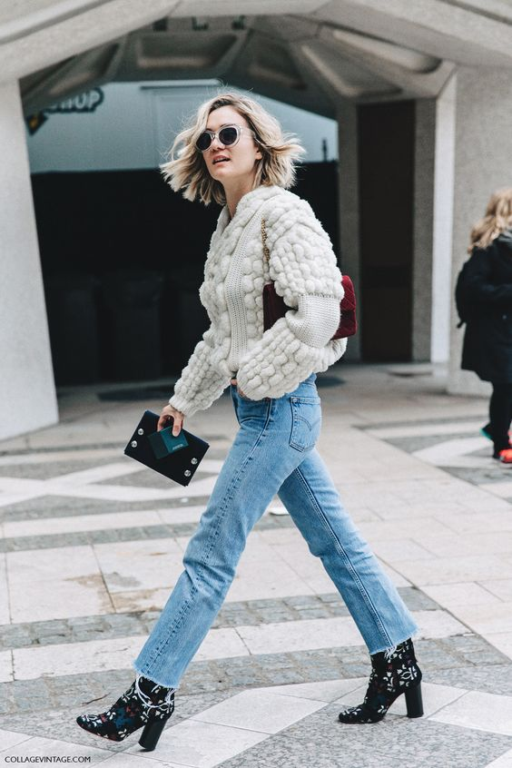 embroidered floral sweater white sweater
