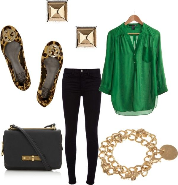 dreaming en francais: Friday's Fancies | Green top outfit, Green .