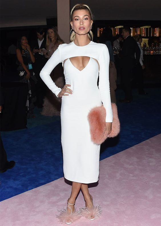 white cut out dress form-fitting