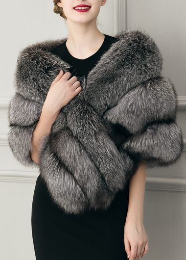 faux fur cape ladylike