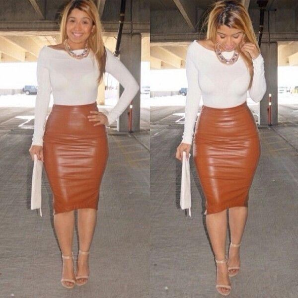 Pin on Leather skirts/dress