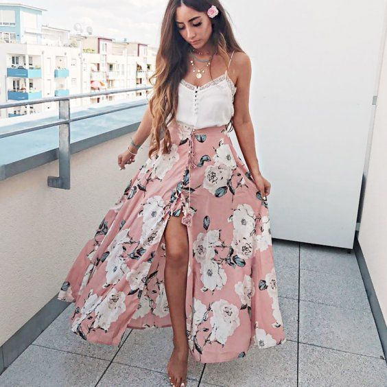 This is a gorgeous option for your wardrobe essential spring maxi .