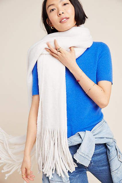 Anthropologie Mimi Fringed Wrap Scarf #ad #AnthroFave .