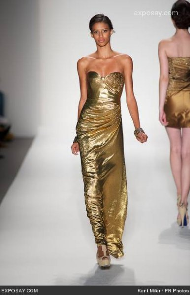 Gold sweetheart neckline sheath maxi dress