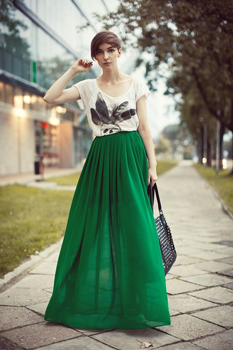 lost in translation: 'Tonight's debut on the streets | Green maxi .