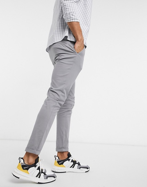 ASOS DESIGN skinny chinos in light grey | AS