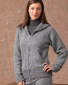 gray hooded cardigan with turtleneck sweater