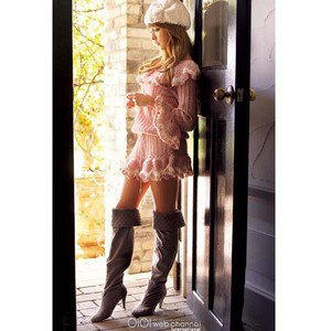 gray knee high boots white ribbed dress with ruched waist