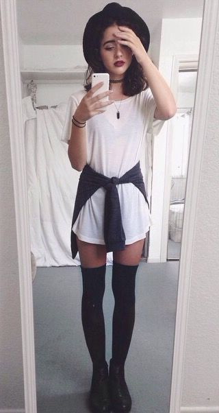 high socks grungy