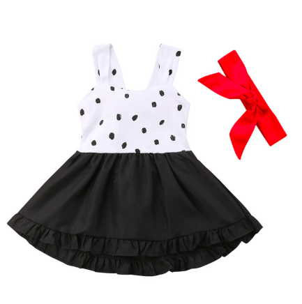 Spotty Dotty Black/White Red Halter Dress – The New Cla
