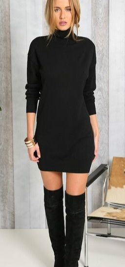 39 Trendy Coziest Sweater Dress Outfit Ideas for Women in 2020 .