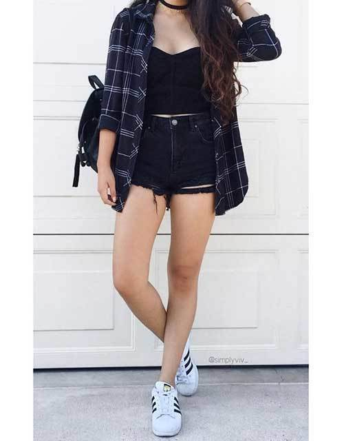 Latest 30 High Waisted Short Outfit Ideas for the Best View .