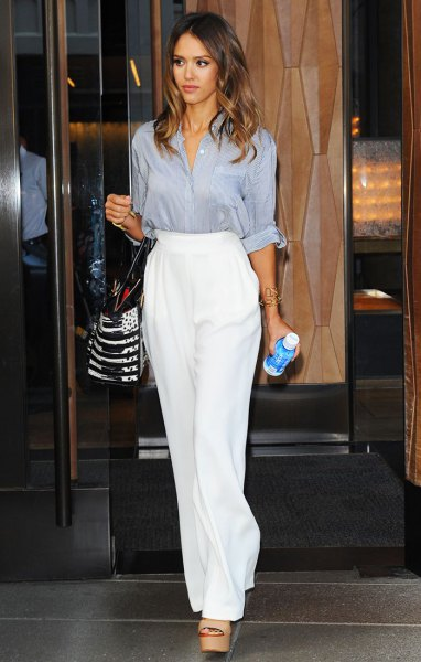How to Wear High Waisted Wide Leg Trousers for Women - FMag.c