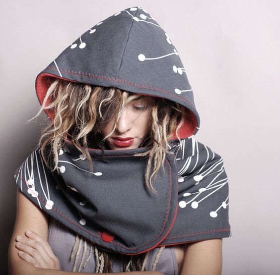 Hooded scarf cotton sports