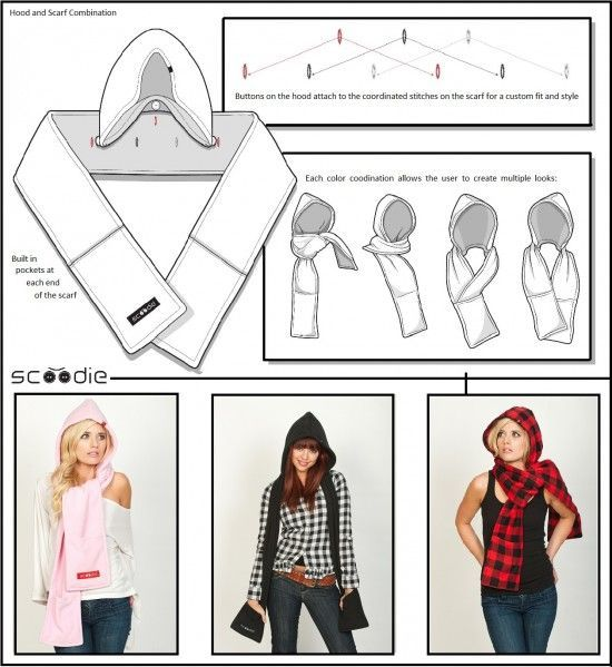 Hooded Scarf Sewing Pattern Free   Scarf sewing pattern, Hooded .