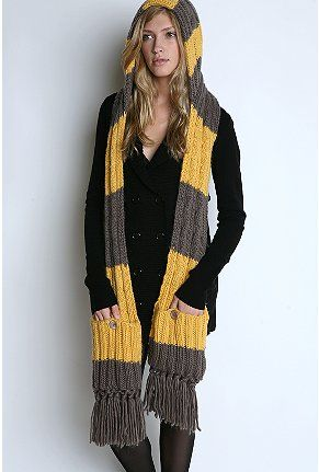 Scarf strips with hood