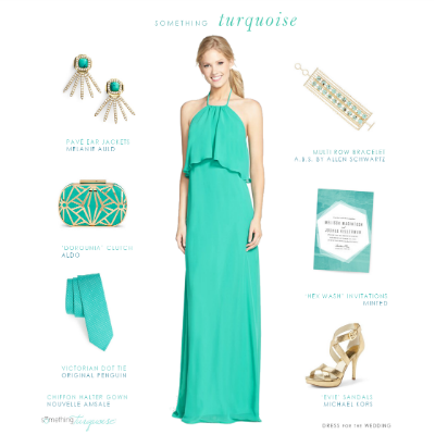 Turquoise Wedding Style Ideas | Dress for the Weddi