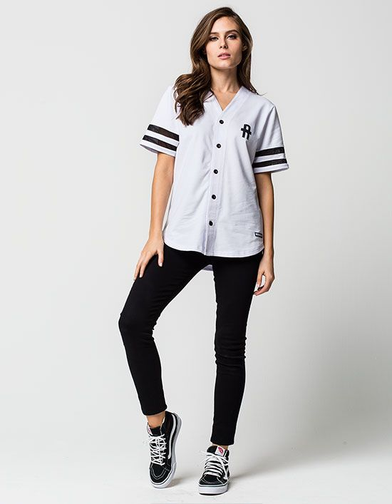 YOUNG & RECKLESS Solid Play Womens Baseball Jersey | Shirts .