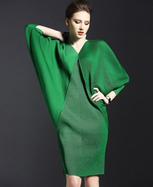 Miss Universe Maxi Green Dress For Women Plus Sizes Batwing Style .