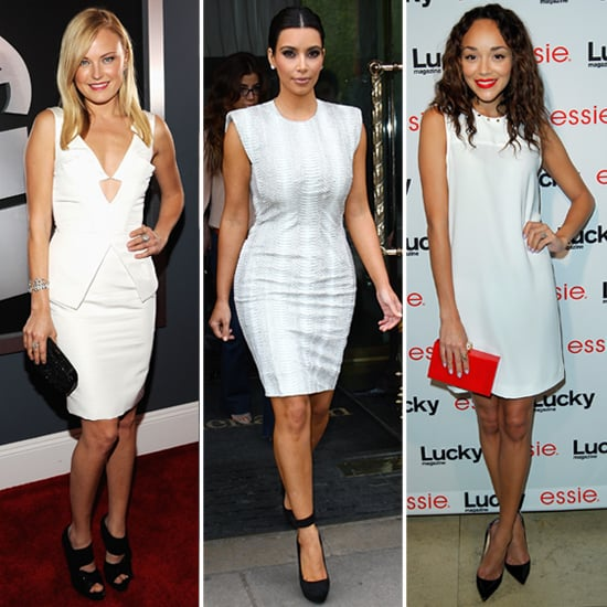 Celebrities in White Dresses and Black Shoes | POPSUGAR Fashi