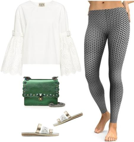 15 Ways to Make Black and White Leggings Work for Y