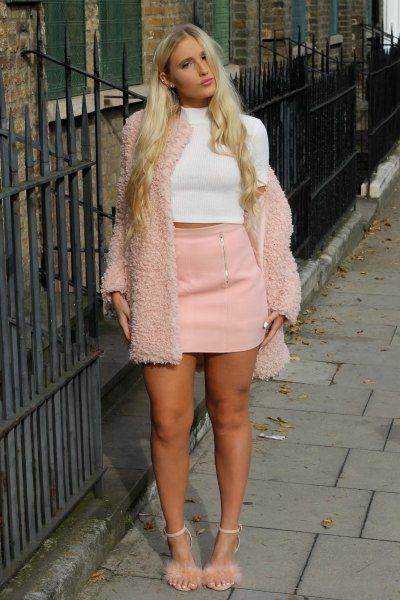 Image result for pink fluffy heels | Heels outfits dress, Fluffy .