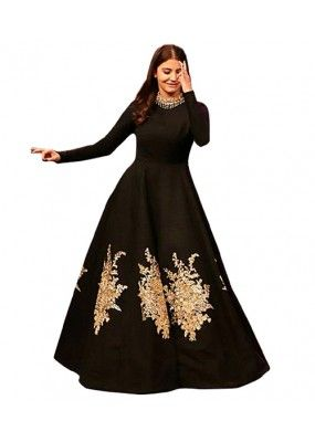Bollywood Replica - Party Wear Black Gown - 70941 | Stylish party .