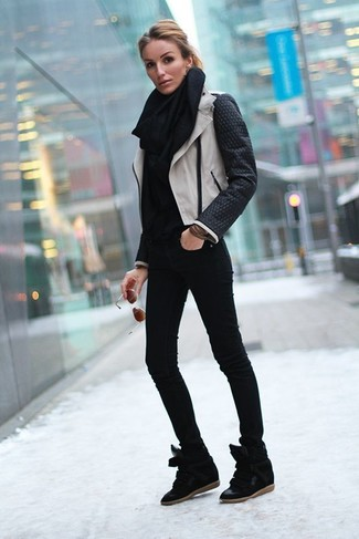 Black Suede Wedge Sneakers Outfits (15 ideas & outfits) | Lookast
