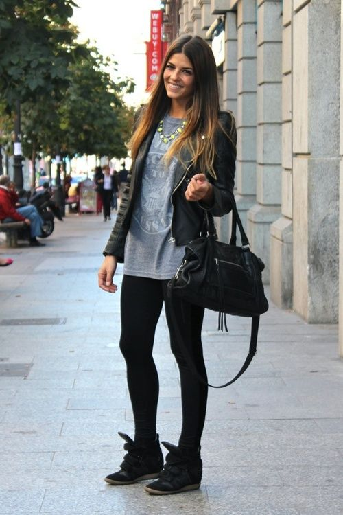 wrosefasion.com--Annie: looks for your wedge sneakers | Fashion .