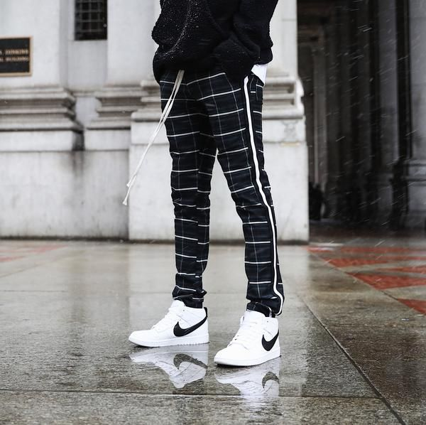 THE DINERO PLAID PANTS - BLACK/WHITE – CHRISTOS | Men fashion .