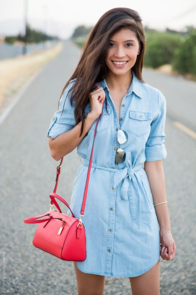 How to Style Blue Jean Dress: Best 13 Stylish Outfit Ideas for .