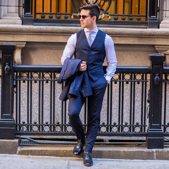 25 Ways to Style Blue Vest - A Secret Fashion Route for a Modern M