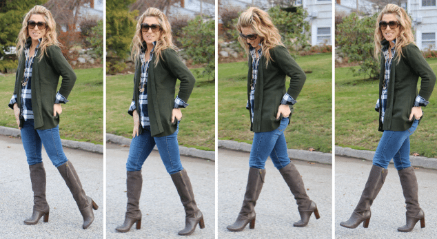 How to Style a Boyfriend Sweater Cardigan - Mom Generations .