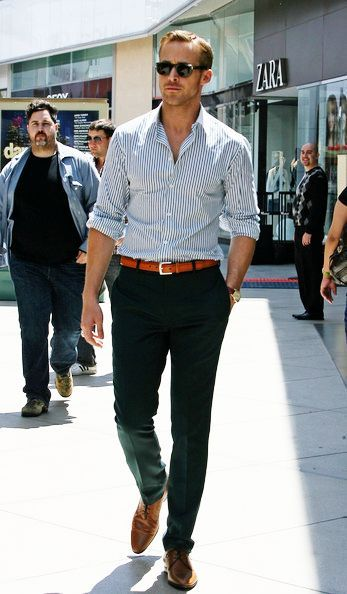 How to Wear Brown Shoes-16 Men Outfits with Brown Dress Shoes .