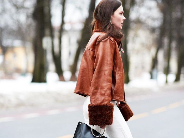 15 Brown Leather Jacket Outfits We Love | Who What We